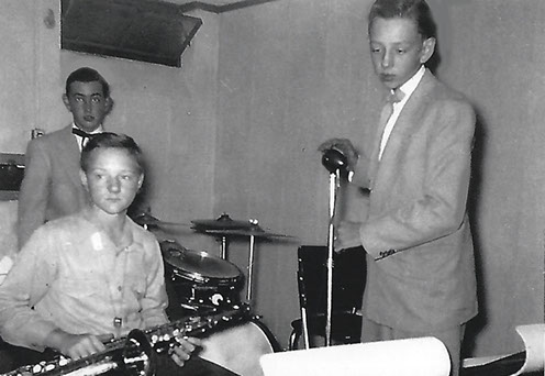 This photo is of Professor Dick Renock at age 13, while in a band.