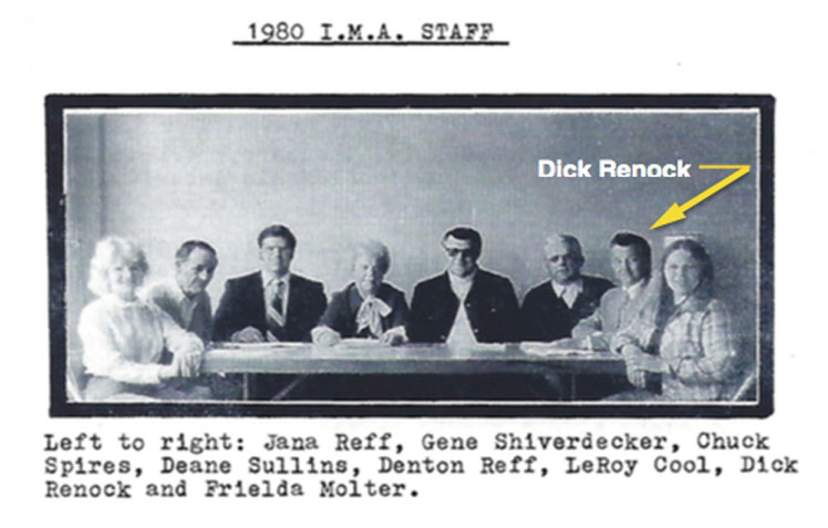 This is a photo of Professor Dick Renock on the board of the International Music Association at Cedar Point.