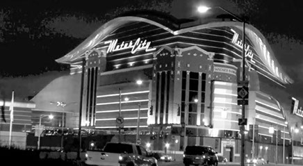This photo is of Motor City Casino in Detroit, where some of the former students of A1 Music Studios play.
